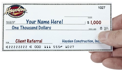 Refer a New Client and Receive $1000!
